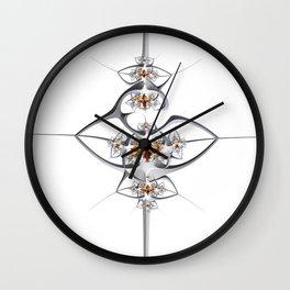 Art deco'ish fractal flower ornament Wall Clock