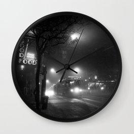 A Streetcar Named Noir Wall Clock