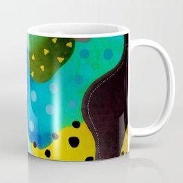 Abstract Art - Lagoon mushrooms rupydetequila amazonia dots cheetah Coffee Mug