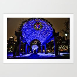 Merry Christmas from Boston, MA Art Print