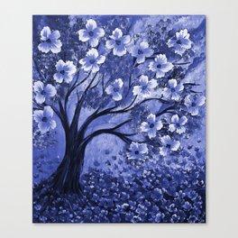 Blue Tree Canvas Print