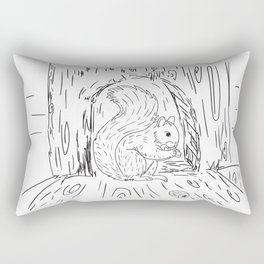 The squirrel Rectangular Pillow