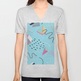 MODERN ABSTRACT GEOMETRIC SHAPES Unisex V-Neck