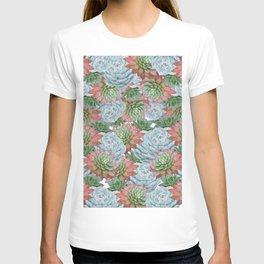 Succulents Pattern #2 #GreenVibes #decor #art #society6 T-shirt
