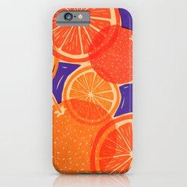 Oranges Block Print iPhone Case