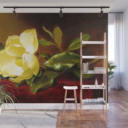A Yellow Magnolia on Red Velvet by Martin Johnson Head Wall Mural