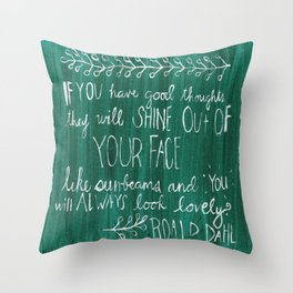 Good Thoughts Throw Pillow