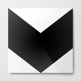 Minimal Chevron Metal Print