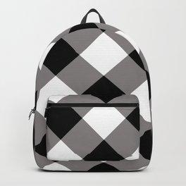 Gingham - Black Backpack