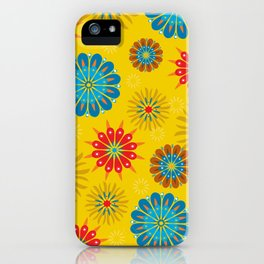 Psycho Flower Gold iPhone Case