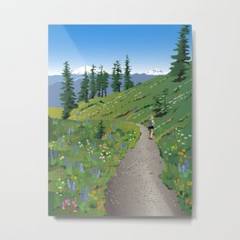 Silver Star Mountain Metal Print