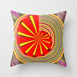 spinning abstraction Throw Pillow