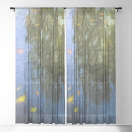 Reflections Of Nature Sheer Curtain