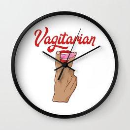 Vagitarian Funny Adult Humor Shirt For Adults T-shirt Design Naughty Fuck Sex Vagina Sexual Wall Clock