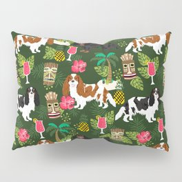 Cavalier King Charles Spaniel tiki hawaiian island tropical dog breed pattern dogs Pillow Sham