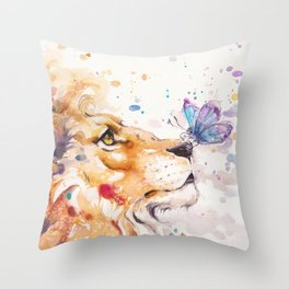 Finn's Lion Throw Pillow