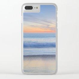 """Magical waves"" Tarifa beach at sunset Clear iPhone Case"