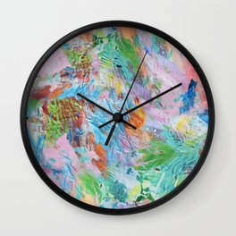 Pink Paint Splash Wall Clock