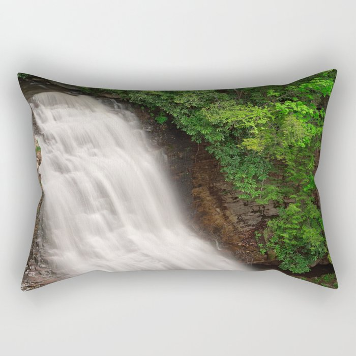 Muddy Creek Falls Rectangular Pillow