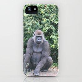 Gorilla Sitting Down iPhone Case