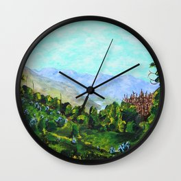 Peneda-Gerês National Park, Portugal by Mike Kraus - art landscape europe trees valley blue green Wall Clock