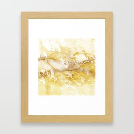 Golden Marble Abstract II Framed Art Print