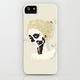 Skull Arlequin iPhone Case