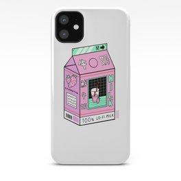 Lo-fi Aesthetic Milk Beverage iPhone Case