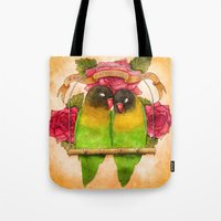 valentines Tote Bags featuring Valentines  by Georgia Roberts