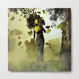 Physa And Butterfly Metal Print