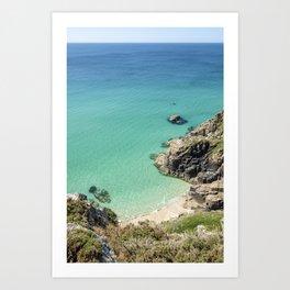 Beautiful Secret Cove, South Cornwall. Art Print