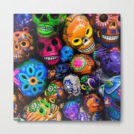 Colorful Skull  Metal Print