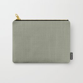 Pastel Sage Green Solid Color Pairs To Dunn & Edwards Flagstone Quartzite DET517 Carry-All Pouch
