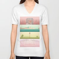 wes anderson V-neck T-shirts featuring A Wes Anderson Collection by George Townley