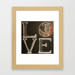 nole love chalk Framed Art Print