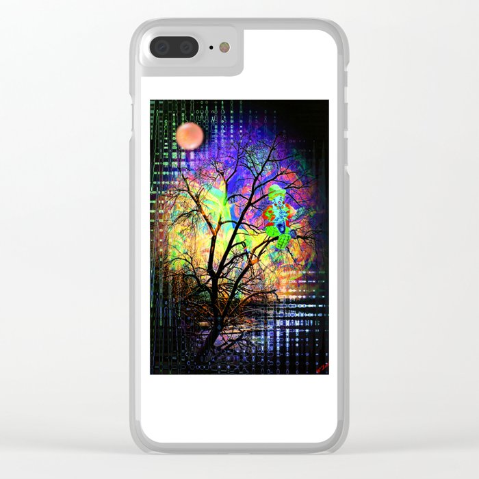 Funny World Clown Clear iPhone Case