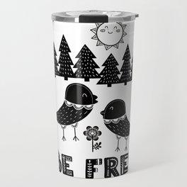 Be Free Birds In Cute Scandinavian Style Travel Mug