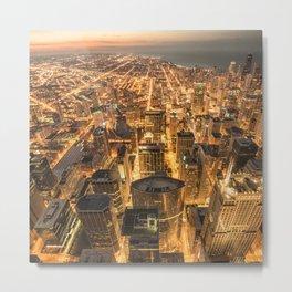 chicago aerial view Metal Print