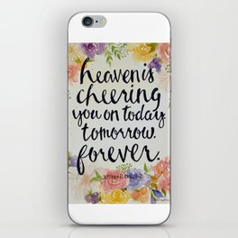 Heaven is Cheering You On iPhone Skin