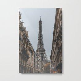 Eiffel Tower Street Views Metal Print