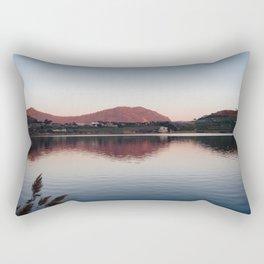 Sunset at lake Rectangular Pillow