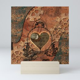 Steampunk, rusty heart Mini Art Print