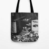 death Tote Bags featuring Death by Sarah Van Neyghem
