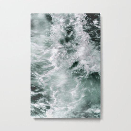 Silky Waves Metal Print