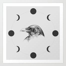 Six Eyed Raven Art Print
