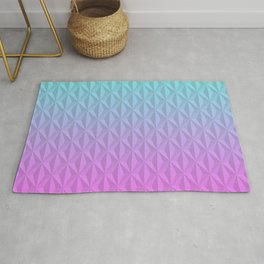 Blue and pink geometric background Rug