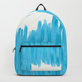 Sea of Blue Painted Backpack