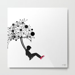 the Swingset Metal Print