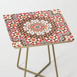 N64 - Traditional Geometric Moroccan Vintage Style Artwork Side Table