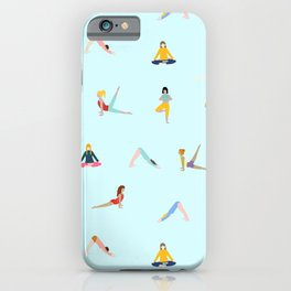 Yoga poses pattern iPhone Case